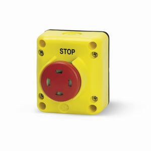 boîte à boutons à 1 bouton / IP65 / pour ascenseur / d'arrêt d'urgence
