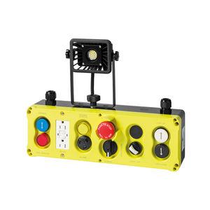 boîte à boutons à 7 boutons / IP54 / pour ascenseur / avec buzzer
