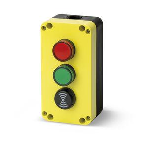 boîte à boutons à 3 boutons / IP65 / à témoin LED / avec buzzer