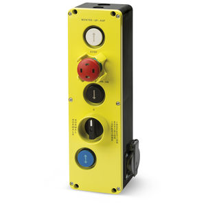 boîte à boutons à 5 boutons / IP54 / avec déverrouillage de rotation / pour ascenseur