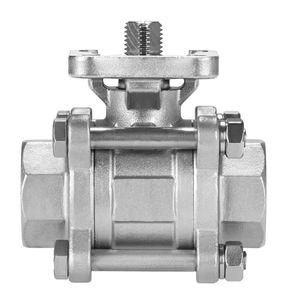 vanne à boisseau sphérique flottant / manuelle / électrique / pneumatique