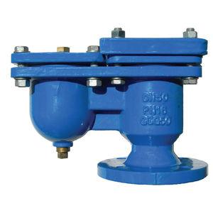vanne à commande pneumatique / à flotteur / pour eaux usées / en fonte