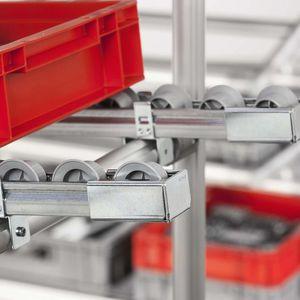 embout recouvrant non fileté / rectangulaire / en acier / pour convoyeur à rouleaux