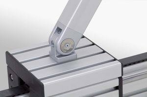 charnière en acier zingué / en aluminium / en zinc / pour profilés en aluminium