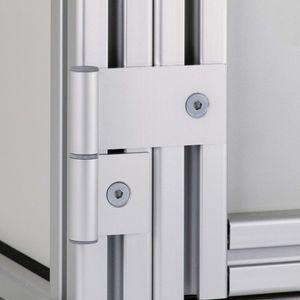 charnière en aluminium / 270° / ajustable / de petite dimension