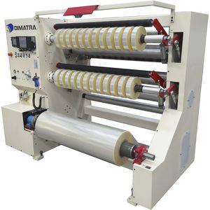 bobineuse refendeuse à double barillet / pour film plastique / rapide