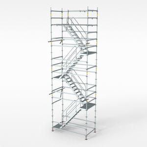 tour d'échafaudage fixe / modulaire / avec escaliers / de façade