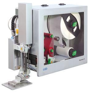 machine d'impression-pose d'étiquettes à transfert thermique / à 2 couleurs / pour papier / pour matières plastiques