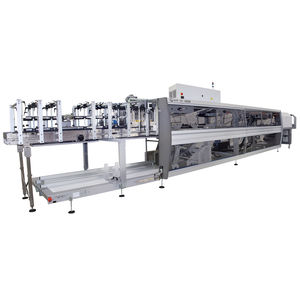 fardeleuse automatique / pour bouteilles en verre / pour carton / de manutention des boîtes