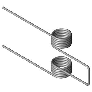 ressort double torsion / à fil / en inox