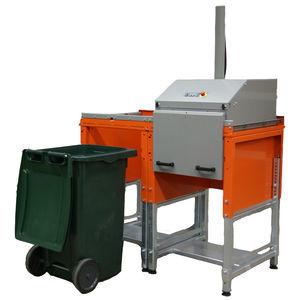 compacteur de déchets pour conteneur à déchets / pour produits alimentaires / stationnaire / à chargement par le haut