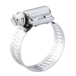 collier de serrage en acier inoxydable / à vis / à bande ajourée / pour les techniques automobiles