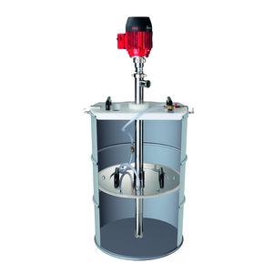 pompe vide-fût / pour produits chimiques / pour lubrifiants / semi-immergée