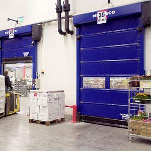 portes à empilement / en acier / pour l'intérieur / rapides