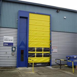 portes à enroulement / en acier / pour l'extérieur / rapides