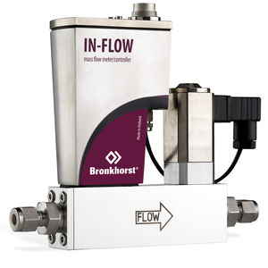 débitmètre massique thermique / pour gaz / avec régulateur de débit massique / en ligne