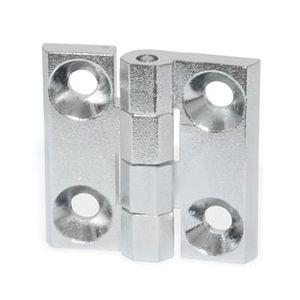 charnière en aluminium / en zinc moulé sous-pression / d'angle / à visser