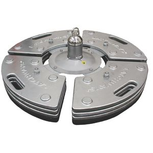 ancrage antichute en acier galvanisé / pour toiture / à béton