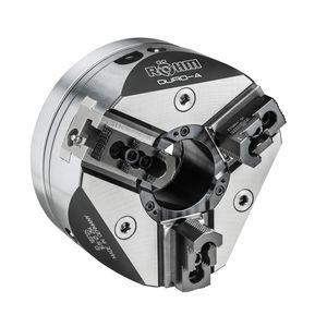 mandrin automatique / 3 mors / avec passage au centre / pour usinage de pièces rondes
