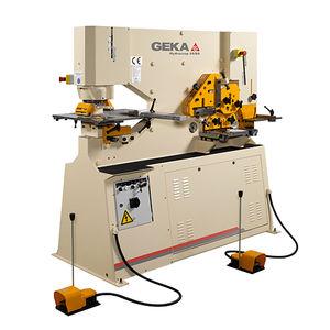 poinçonneuse cisaille semi-automatique / hydraulique / de barres / de profilés