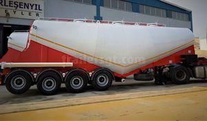 remorque à 4 essieux / de ciment / silo