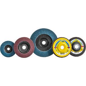 disque à lamelle pour acier inoxydable / de finition / à revêtement en zirconium