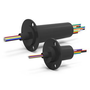 collecteur tournant électrique / à capsule / compact / avec contacts en or