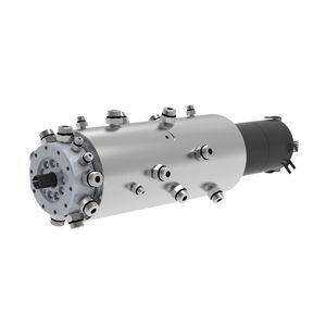raccord tournant pour gaz / 11 passages / en acier inoxydable / avec collecteur électrique intégré