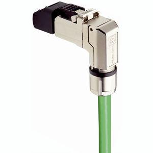 connecteur de données / RJ45 / Ethernet / coudé