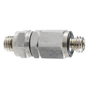 clapet anti-retour à membrane / fileté / miniature / pour l'eau
