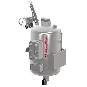 réservoir en métal / sous pression / vertical / pressurisé