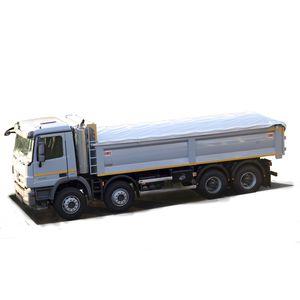 benne de camion en acier / à 3 essieux