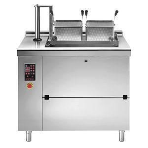 friteuse industrielle en continu / de légumes / électrique
