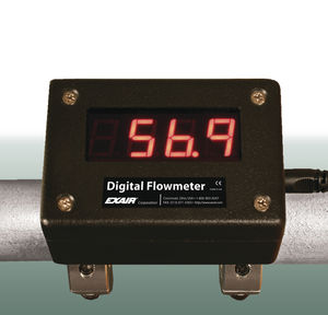 débitmètre pour air comprimé / numérique / clamp-on