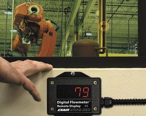 afficheur de débit pour air / avec afficheur LED / à distance