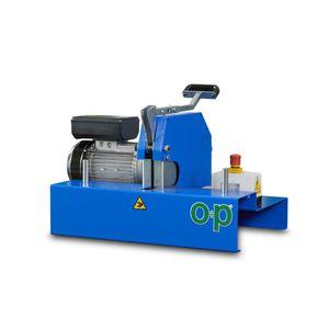 machine de découpe pour caoutchouc / à lame rotative / de tuyau flexible / compacte