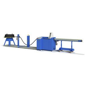 machine de coupe pour caoutchouc / de tuyau flexible / contrôlée par PLC / automatique