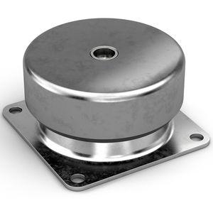 support antivibratoire cylindrique / en métal / en silicone / en caoutchouc