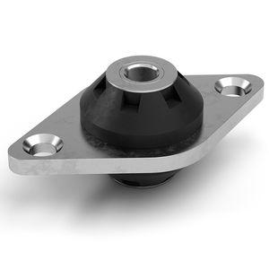 support antivibratoire rond / en métal / en silicone / en caoutchouc
