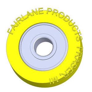 galet de guidage / en acier / plastique / à roulement surmoulé