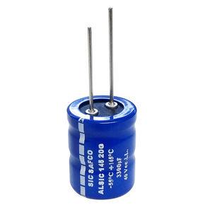 condensateur électrolytique / cylindrique / avec broches radiales / de filtrage
