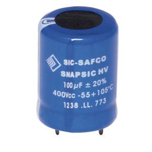 condensateur de haute tension / électrolytique / cylindrique / de filtrage