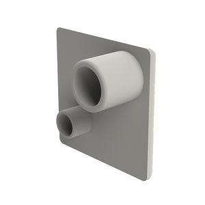 embout recouvrant pour profilés / press-fit / carré / en polyamide