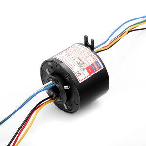 collecteur tournant électrique / à axe creux / robotique / pour table rotative