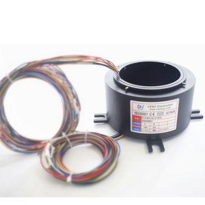 collecteur tournant électrique / arbre traversant / robotique / pour antenne radar