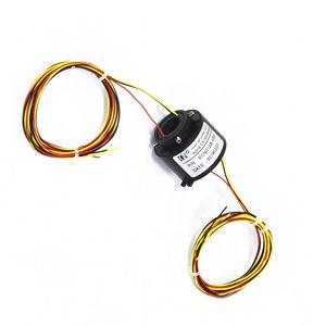 collecteur tournant électrique / arbre traversant / pour applications industrielles / haute performance