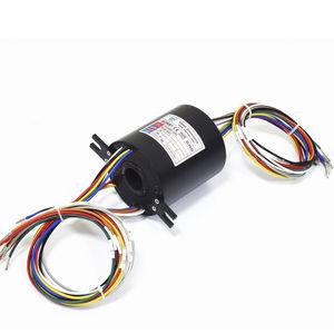 collecteur tournant électrique / à axe creux / pour applications marines / pour instrument de mesure