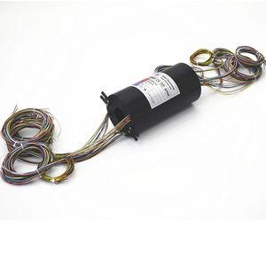 collecteur tournant électrique / à axe creux / pour enrouleur de câble / pour moteur électrique