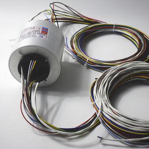 collecteur tournant avec passage au centre / pour éclairage de scène / pour l'industrie de l'éclairage / alliage d'aluminium