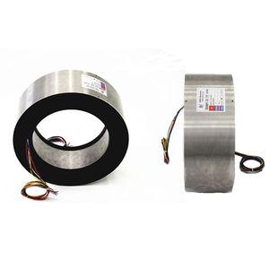 collecteur tournant de fibre optique / hydraulique / pneumatique / arbre traversant